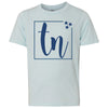 Kids TN Box Tri Star on a Ice Blue T-Shirt