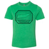 Kids Hills of Tennessee on a Kelly Green T-Shirt