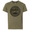 Kids Tennessee Agriculture Seal on a Military Green T-Shirt