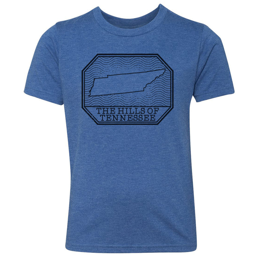 Kids Hills of Tennessee on a Vintage Royal T-Shirt