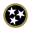 Black/Gold Tri Star 3 Inch Decal