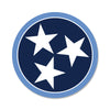 Navy/Light Blue Tri Star 3 Inch Decal