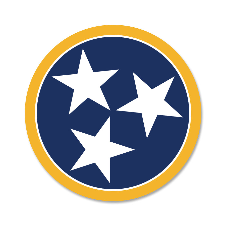 Navy/Yellow Tri Star 3 Inch Decal