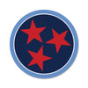 Navy/Light Blue Red Tri Star 3 Inch Decal