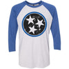 Adult Black & Royal Blue Tri Star on a Vintage Royal Sleeve Raglan