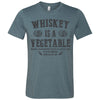 Adult Tennessee Whiskey Is A Vegetable on a Heather Slate T-Shirt