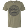 Adult Tennessee Agriculture Seal on a Heather Olive T-Shirt