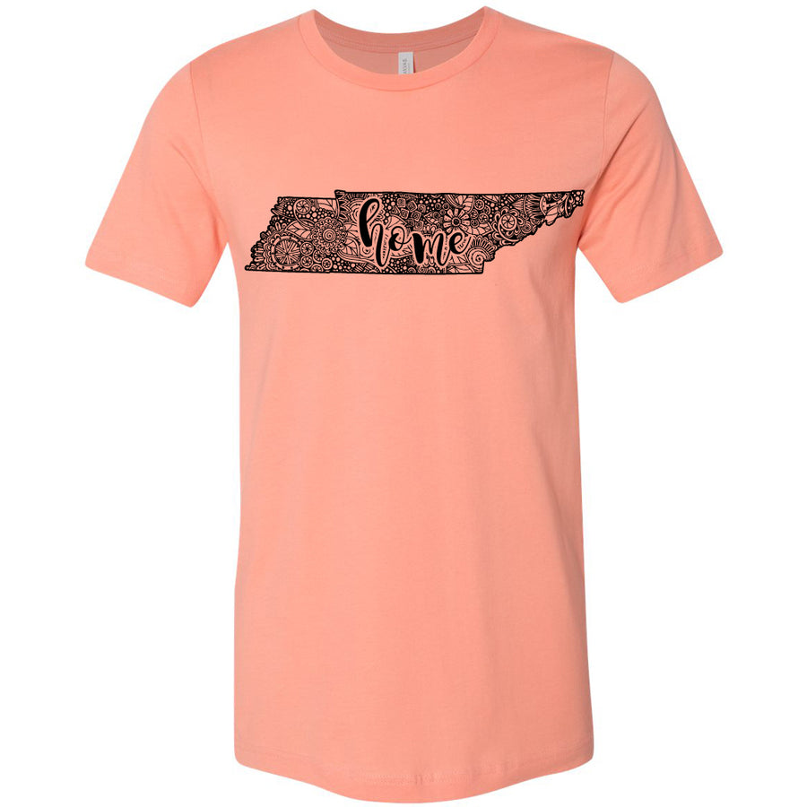 Adult Tennessee Home Floral on a Sunset T-Shirt