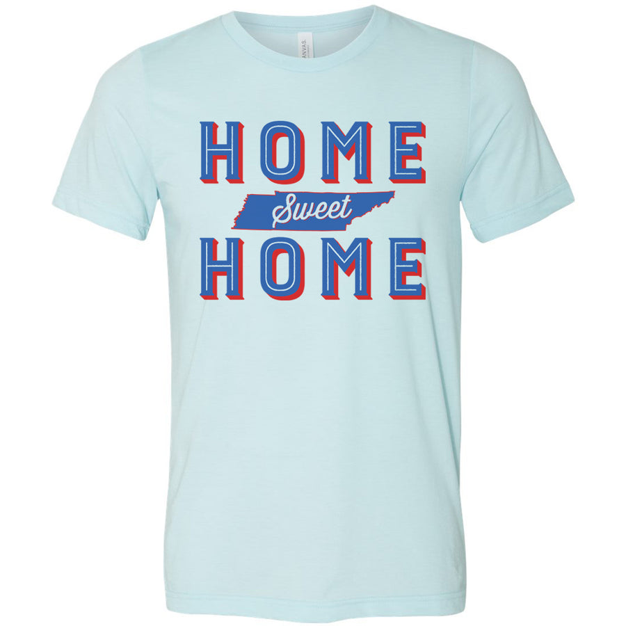 Adult Home Sweet Home on a Heather Ice Blue T-Shirt
