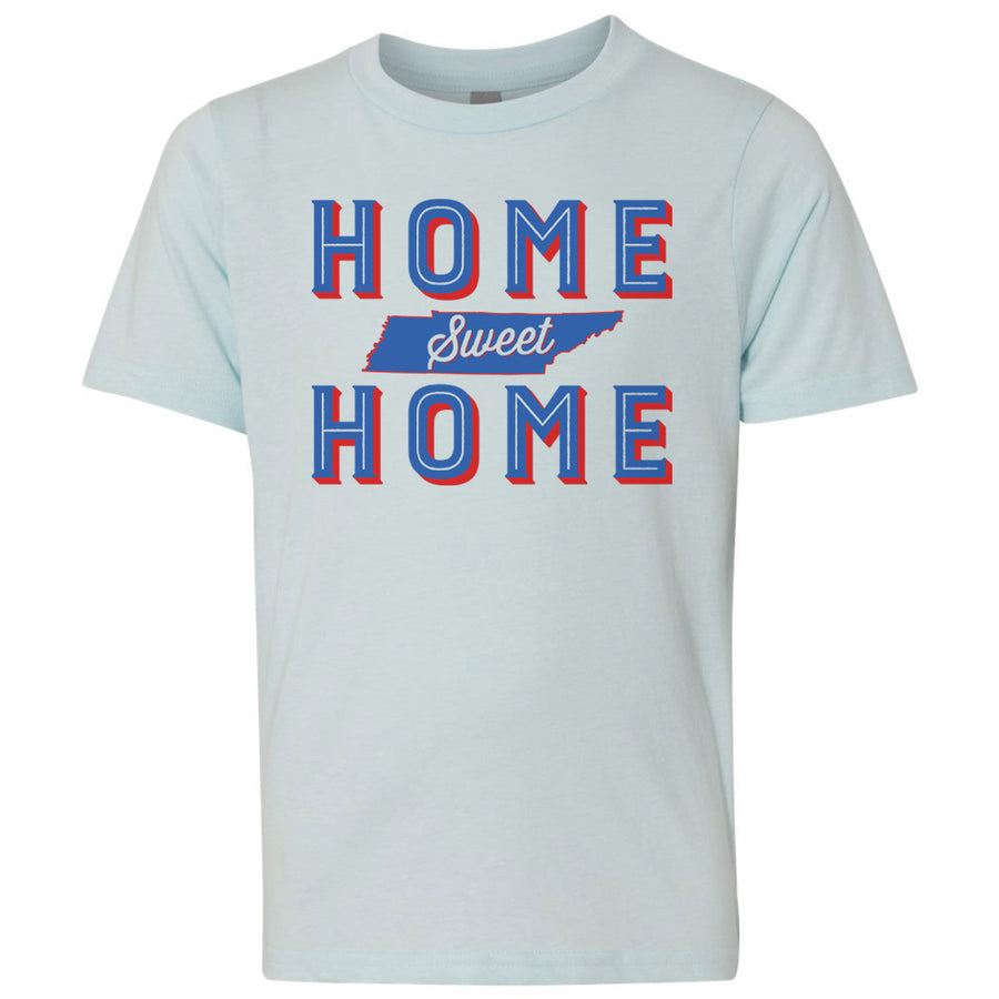 Kids Home Sweet Home on a Ice Blue T-Shirt
