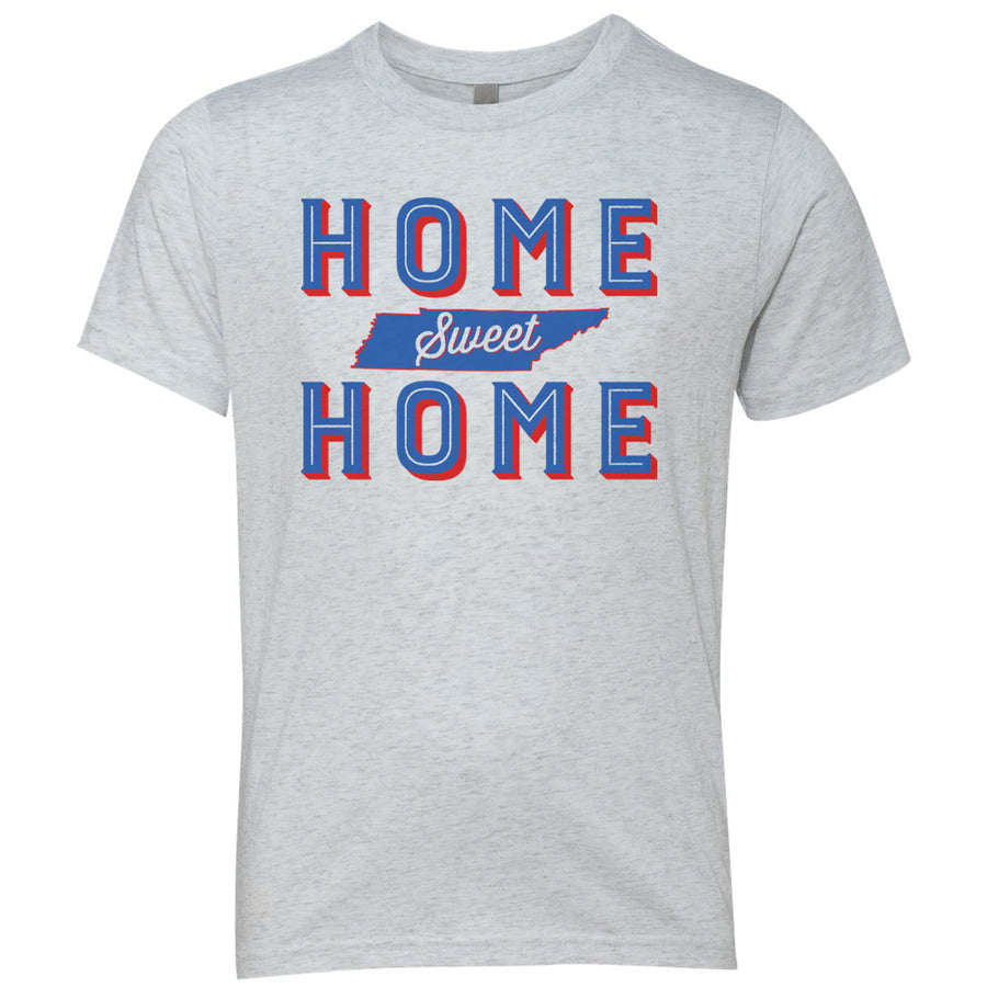 Kids Home Sweet Home on a Heather White T-Shirt
