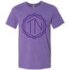 Adult TN Monogram on a Heather Team Purple T-Shirt