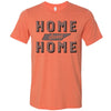 Adult Home Sweet Home on a Heather Orange T-Shirt