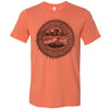 Adult Tennessee Agriculture Seal on a Heather Orange T-Shirt