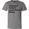 Adult Tennessee & Football on a Deep Heather T-Shirt