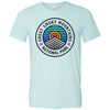 Clearance Adult Great Smoky Mountains on a Heather Ice Blue T-Shirt