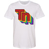 Clearance Adult Retro TN Rainbow on a White T-Shirt