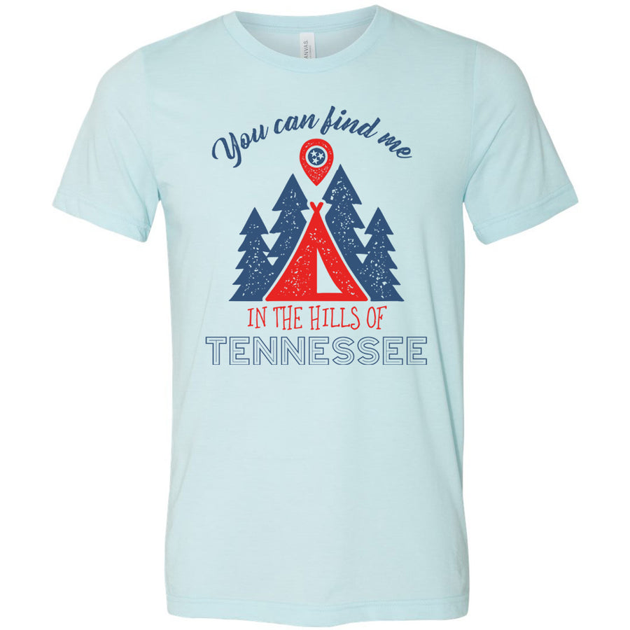 Adult In The Hills Of Tennessee on a Heather Ice Blue T-Shirt