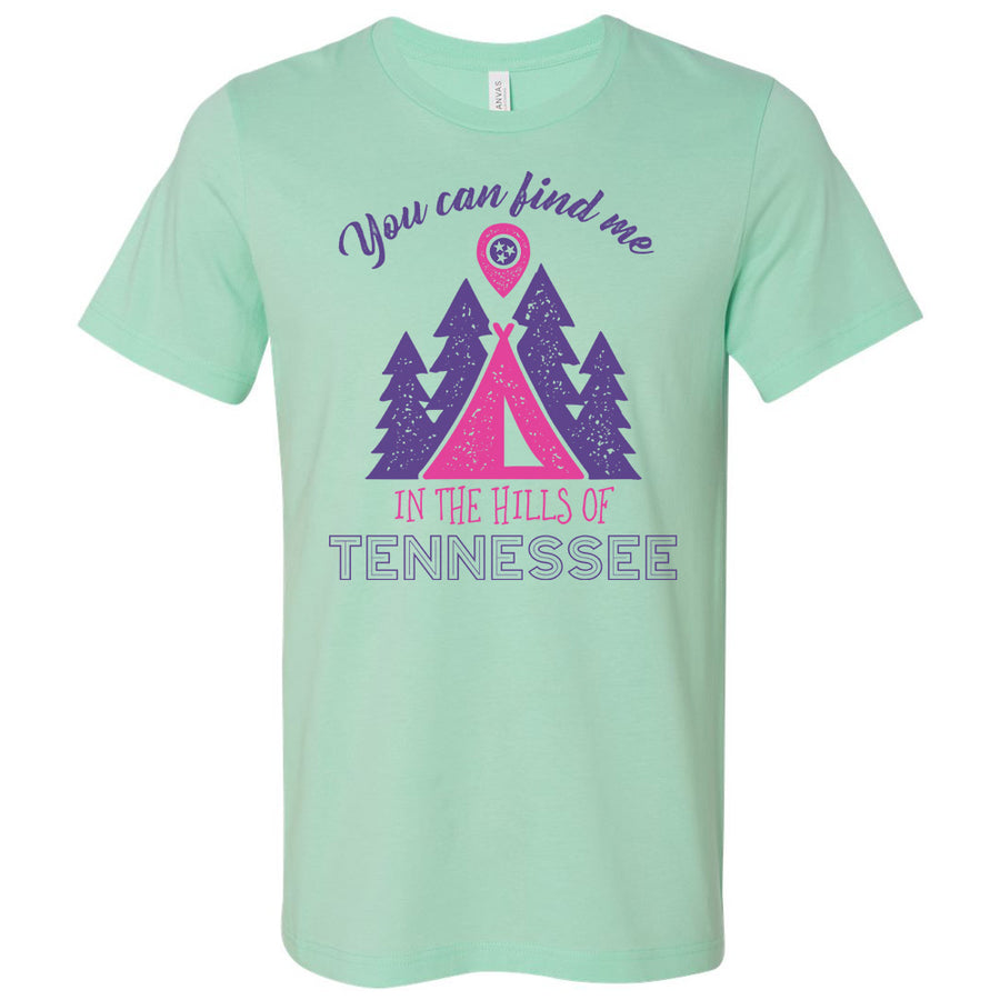 Adult In The Hills Of Tennessee on a Heather Mint T-Shirt