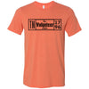 Adult The Volunteer State on a Heather Orange T-Shirt