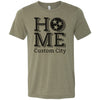 Adult Home T-Shirt Customized With Your Home Town