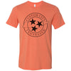 Adult Tri Star T-Shirt Customized With Your Home Town