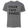 Kids Four Two Three 423 Area Code T-Shirt Grey