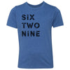 Kids Six Two Nine 629 Area Code T-Shirt Royal