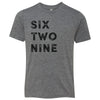 Kids Six Two Nine 629 Area Code T-Shirt Grey