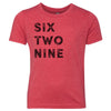 Kids Six Two Nine 629 Area Code T-Shirt Red