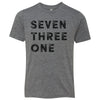 Kids Seven Three One 731 Area Code T-Shirt Grey