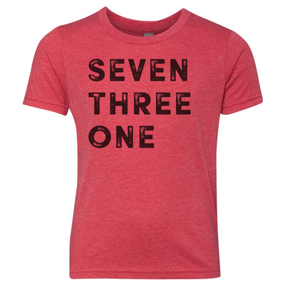 Kids Seven Three One 731 Area Code T-Shirt Red