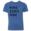 Kids Nine Zero One 901 Area Code T-Shirt Royal