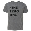 Kids Nine Zero One 901 Area Code T-Shirt Grey