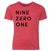 Kids Nine Zero One 901 Area Code T-Shirt Red