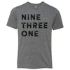 Kids Nine Three One 931 Area Code T-Shirt Grey
