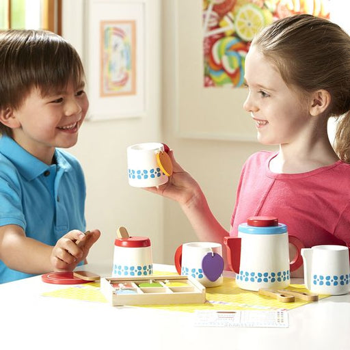 Melissa & Doug Wooden Steep & Serve Tea Set