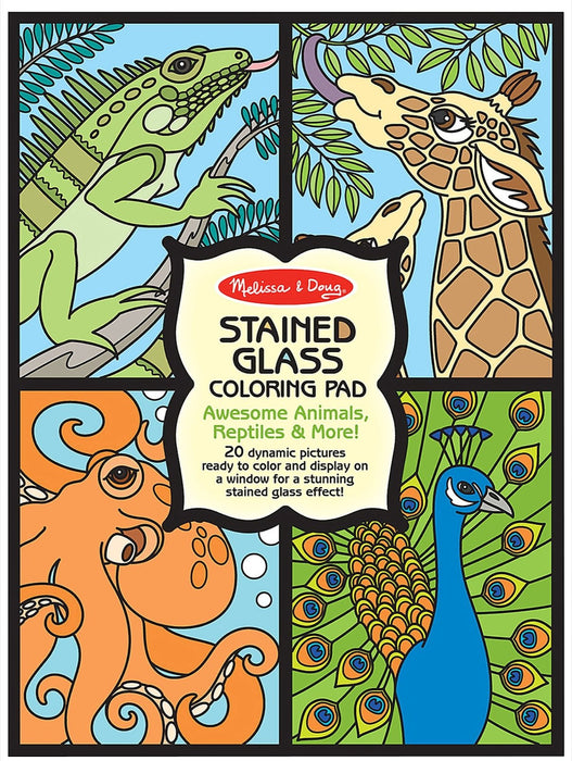 Melissa & Doug Stained Glass Coloring Pad-Animals