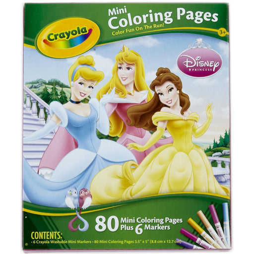 Crayola Disney Princess Mini Colouring Pages