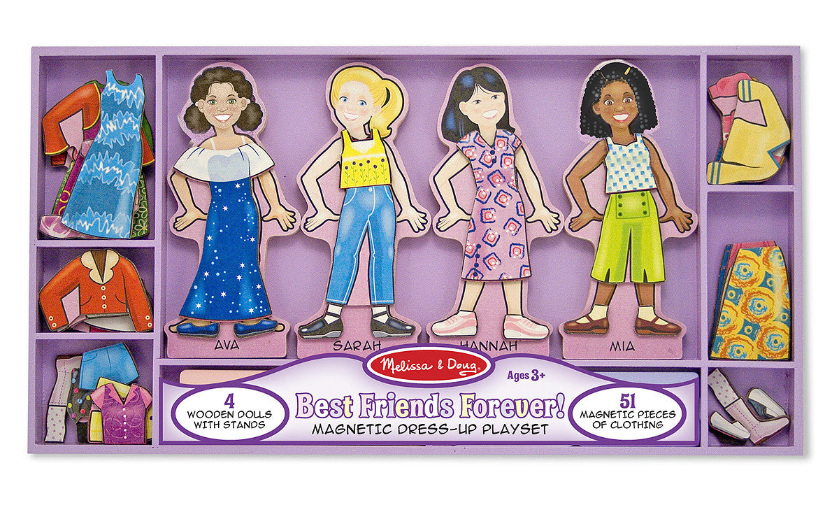 Melissa & Doug Best Friends Forever Magnetic Dress-Up
