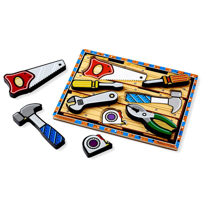 Melissa & Doug Tools Wooden Chunky Puzzle (7 pieces)