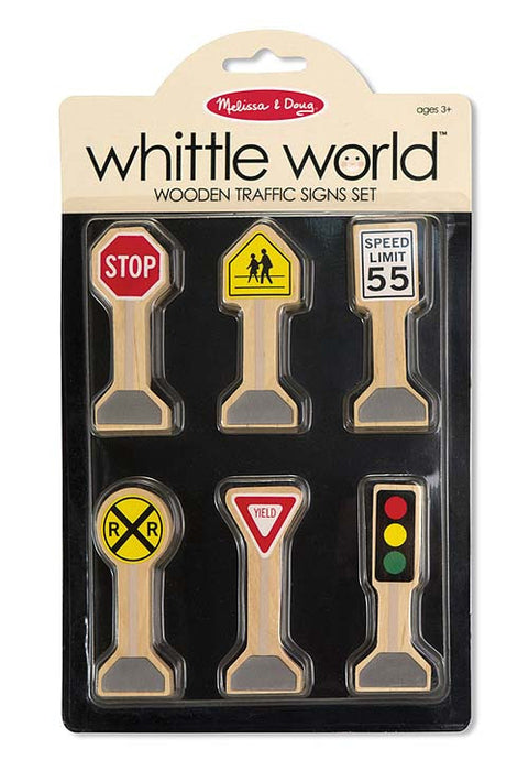 Melissa & Doug Wooden Classic Traffic Signs