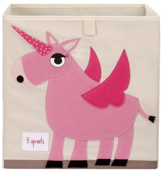 3 Sprouts Storage Box - Unicorn