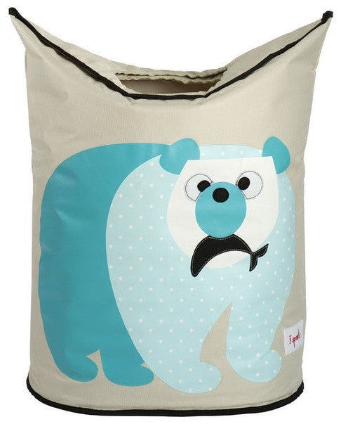 3 Sprouts Laundry Hamper - Polar Bear