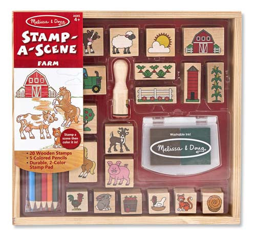 Melissa & Doug Stamp Set: Stamp-A-Scene Farm