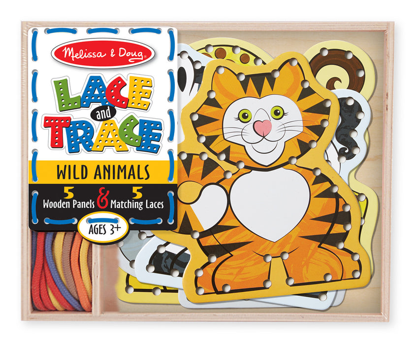 Melissa & Doug  Lace and Trace - Wild Animals