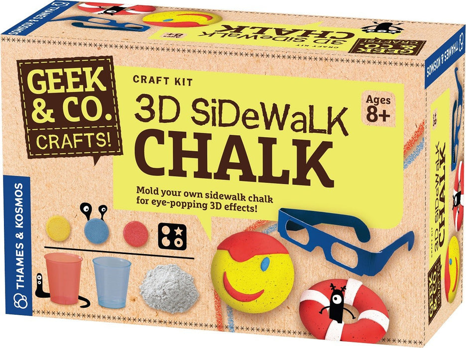 Geek & Co. 3D Sidewalk Chalk