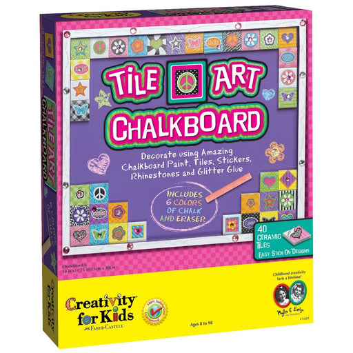 Creativity for Kids Tile Art Chalkboard