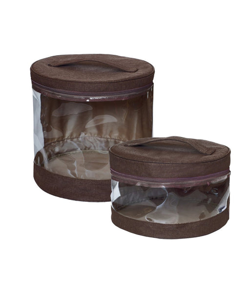 JJ Cole Clear Storage Bin Set (Cocoa Heather)
