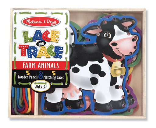 Melissa & Doug Lace and Trace - Farm Animals